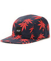 HUF Plantlife Navy & Red 5 Panel Hat