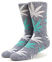 HUF Plantlife Navy Heather & Mint Crew Socks