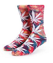 HUF Plantlife Summer Tie Dye Crew Socks