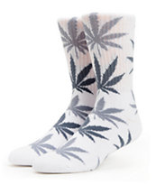 HUF Plantlife White & Charcoal Crew Socks