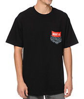 HUF Protest Pocket Black Pocket Tee Shirt