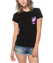 HUF Purple Crystal Wash Pocket T-Shirt