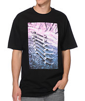 HUF Stacked Black Tee Shirt
