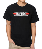 HUF Top HUF Black Tee Shirt