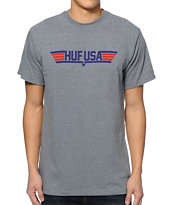 HUF Top HUF Heather Grey Tee Shirt