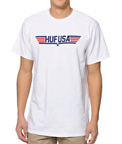 HUF Top Huf White Tee Shirt