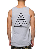 HUF Triple Triangle Grey Tank Top