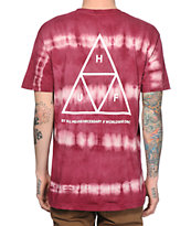 HUF Triple Triangle Stripe Tie Dye T-Shirt