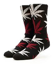 HUF Tropics Plantlife Black Crew Socks