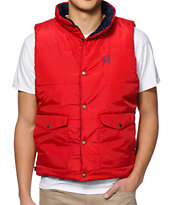 HUF Verses Puffer Navy & Red Reversible Vest
