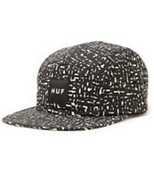 HUF x Haze Pattern Black 5 Panel Hat