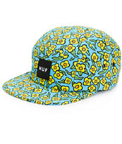 HUF x Krooked Flowers Peacock 5 Panel Hat