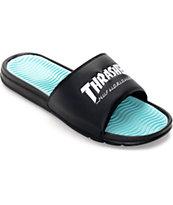 HUF x Thrasher Black Slide Sandals
