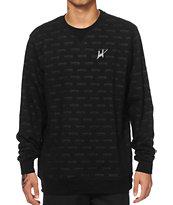 HUF x Thrasher Logo Crew Neck Sweatshirt