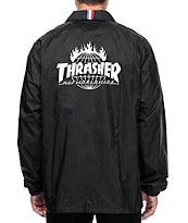 HUF x Thrasher TDS Black Coaches Jacket