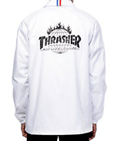 HUF x Thrasher TDS White Coaches Jacket
