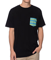 Habitat Maize Blend Black Pocket Tee Shirt