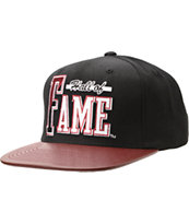 Hall Of Fame Atlanta Black & Burgundy Snapback Hat