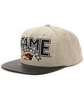 Hall Of Fame Bama Heather Grey & Black Snapback Hat