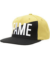 Hall Of Fame Ewing Split Black & Gold Snapback Hat