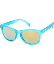Happy Hour FUBAR Frosted Turquoise Sunglasses