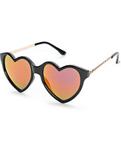 Hearts Desire Twist Arm Heart Sunglasses