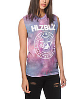 Hellz Bellz Balance Bitches Tie Dye Muscle Tee