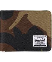 Herschel Roy Camo Print Canvas Bifold Wallet