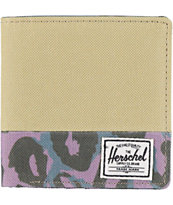 Herschel Stanley Khaki & Leopard Canvas Bifold Wallet