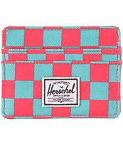 Herschel Supply Charlie Salmon Picnic Cardholder Wallet
