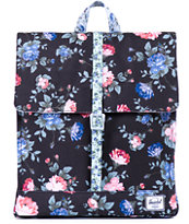 Herschel Supply City Black Floral Print 7L Backpack