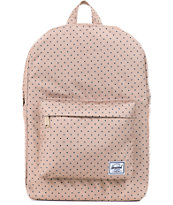 Herschel Supply Classic Khaki Polka Dot 11L Mid Volume Backpack