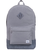 Herschel Supply Co Heritage Grey Leather 21L Backpack