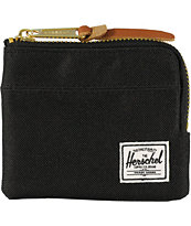 Herschel Supply Co Johnny Black Zip Wallet