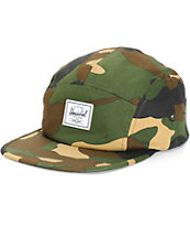 Herschel Supply Glendale Woodland Camo 5 Panel Hat