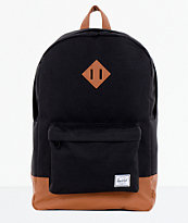 Herschel Supply Heritage Black & Tan 21L Backpack