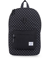 Herschel Supply Heritage Black Polka Dot 11L Mid-Volume Backpack
