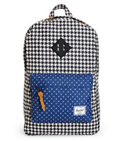 Herschel Supply Heritage Navy & Houndstooth 11L Backpack
