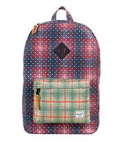 Herschel Supply Heritage Plaid & Polka Dot 21L Backpack
