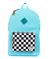 Herschel Supply Heritage Teal Cotton Canvas 21L Backpack