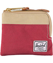 Herschel Supply Johnny Red & Khaki Zip Wallet