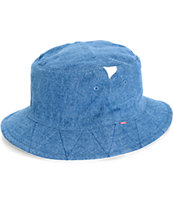 Herschel Supply Lake Mid Wash Denim Reversible Bucket Hat