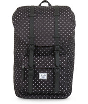 Herschel Supply Little America Black Polka Dot Backpack