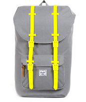 Herschel Supply Little America Grey & Neon Weather 24L Backpack