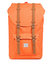 Herschel Supply Little America Orange Polka Dot 24L Backpack