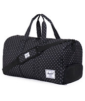 Herschel Supply Novel Black & White Polka Dots 39L Duffle Bag