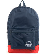 Herschel Supply Packable Daypack Navy & Red Backpack