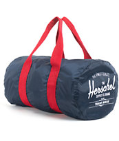 Herschel Supply Packable Navy Blue & Red Duffel Bag
