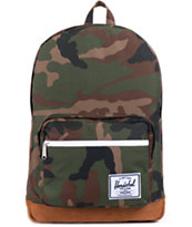 Herschel Supply Pop Quiz Camo & Leather 20L Laptop Backpack
