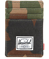 Herschel Supply Raven Woodland Camo Cardholder Wallet